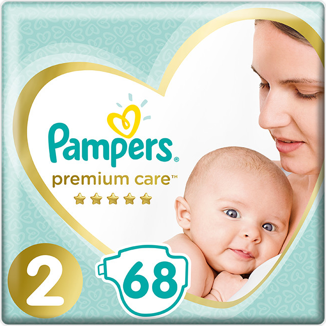 PAMPERS premium care, 4-8 kg, 23 ks